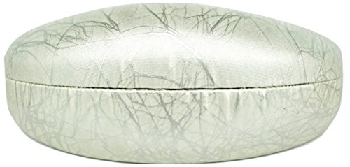 - Colorful Hard Shell Eyeglass Sunglass Case - Silver Vein Embossed