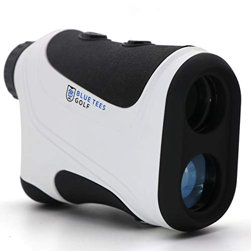 Blue Tees Golf Laser Rangefinder with Pinseeker | 7x Magnification, 600 Yard/Meter Range Finder for Golf with CR2 Battery | Tournament Legal