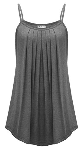 Sixother Womens Pleated Camisole Sleeveless