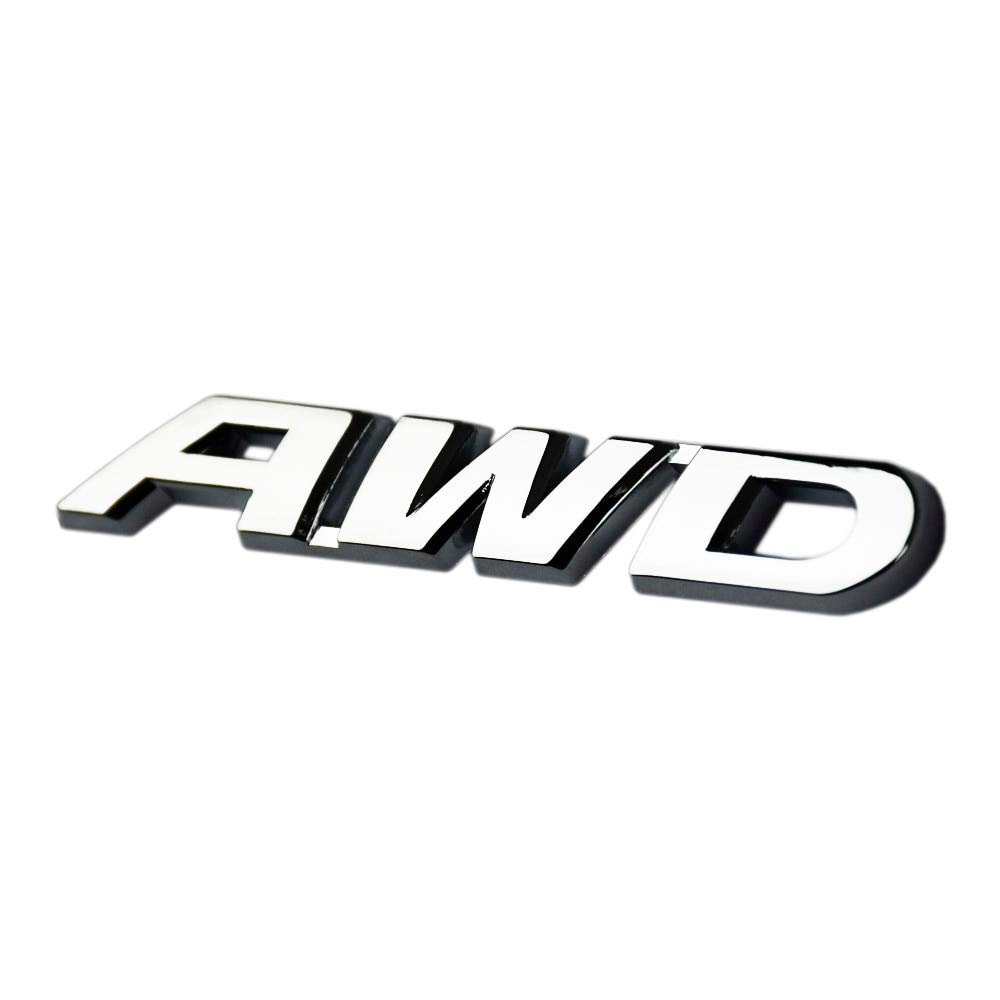 Graven 3D Auto Letter Decals Four Wheel Drive Car Metal Sticker Emblem for BMW 1 for VW for Toyota Highlander for Audi - (Color Name: As a Picture)