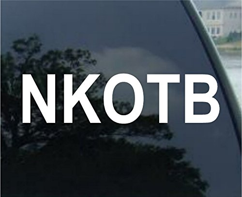 NKOTB - New Kids on the Block - Vinyl Decal Sticker #A1433 | Vinyl Color: White