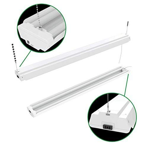 Hykolity 4FT 40W Linkable LED Shop Light With Pull Chain