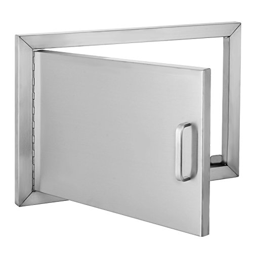 Happybuy BBQ Access Door Double Wall Construction Cutout 20W x 14H In. BBQ Island/Outdoor Kitche ...