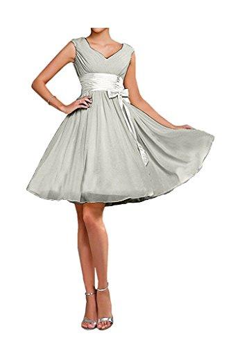 Marie Einfach Braut Festlichkleider La Abendkleider Gelb Damen Silber Cocktailkleider Mini Promkleider Kurz TSdxgw