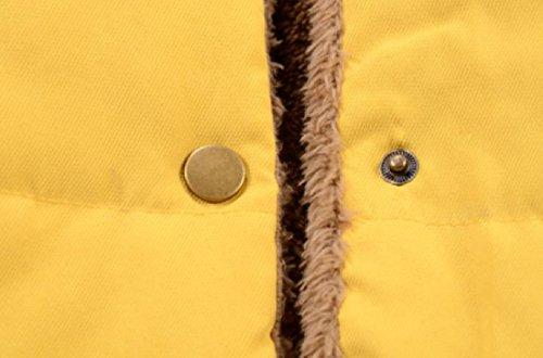 Donne Delle Solido Accogliente Gilet Tasche Calde Incappucciati Giù Giallo Angelspace Cardigan Parka wqZFxfU1