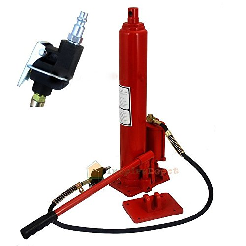 GHP 8-Ton Capacity 100~120PSI 7CFM Long Ram Air Pump Hydraulic Jack Engine Lift 100 Ton Ram