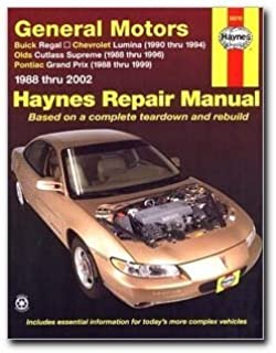 haynes repair manual general motors: buick regal (88-02) chevrolet lumina(
