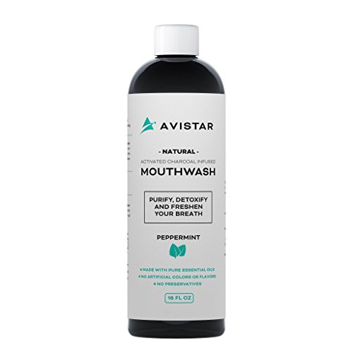 - Natural Activated Charcoal Mouthwash: Purify, Detoxify & Freshen Your Breath! - Peppermint Flavor (Made In The USA)