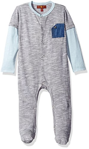 7-for-all-mankind-baby-boys-mock-sleeve-footie-textured-peacoat-0-3m