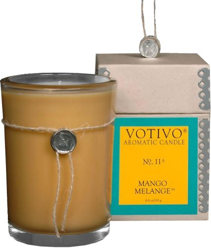 Glass Aromatic Candle (Votivo - Aromatic Glass Candle, Mango Melange)