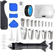 Romacci Kit de ferramentas de acabamento de calafetagem de 32 unidades Kit de ferramentas de acabamento de cal
