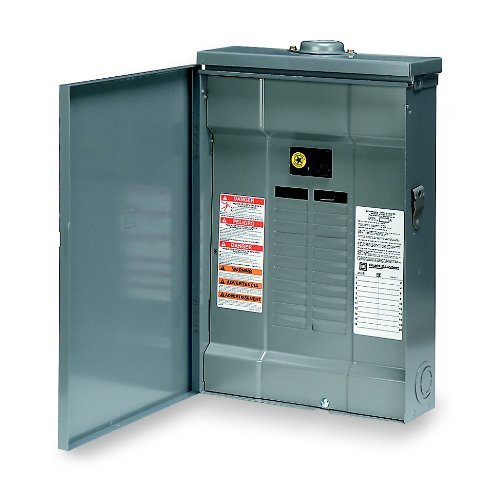 Square D by Schneider Electric QO120M100RB QO 100 Amp 20-Space 20-Circuit Outdoor Main Breaker Load Center with Cover,