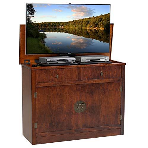 Lifts Plasma Tv Furniture (TVLiftCabinet, Inc Adagio Antique Caramel TV Lift Cabinet)
