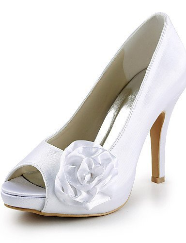 ShangYi Schuh Damen Hochzeitsschuhe Absätze Zehenfrei
