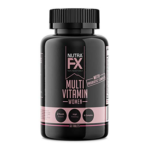 FX Supplements Essential Multivitamins for Women with Probiotics – Supports Immune System and Digestive Health, 60 Count