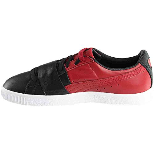 Puma Select Mens Clyde Colorblock Sneakers Puma Zwart / Chili Peper