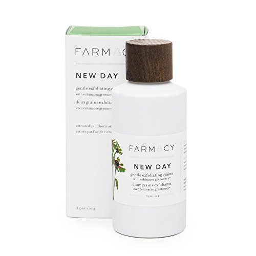 Farmacy Exfoliating Face Wash - New Day Gentle Exfoliant Grains - Travel Friendly Water Activated Facial Cleanser