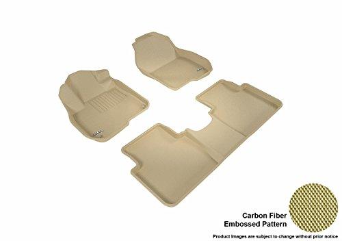 Set Tray Floor - 3D MAXpider Complete Set Custom Fit All-Weather Floor Mat For Select Honda CR-V Models - Kagu Rubber (Tan)