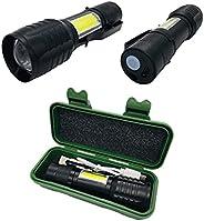Mini Lanterna Tática Alumínio 3 Modos Recarregável Camping