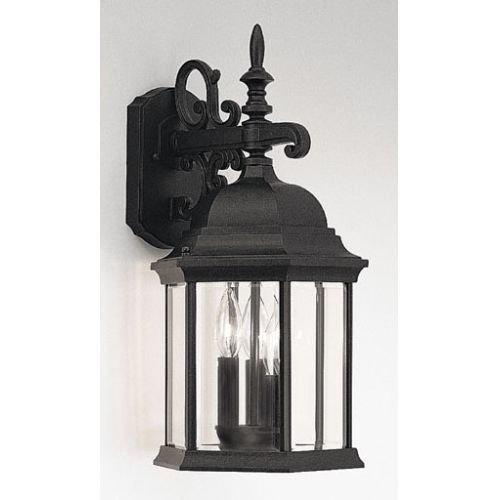 Designers Fountain 2981-BK 9-1/2 Cast Wall Lantern Devonshire