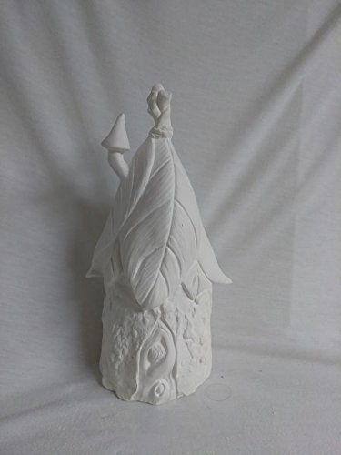 Fairy House 10'' Ceramic Bisque, Ready To Paint