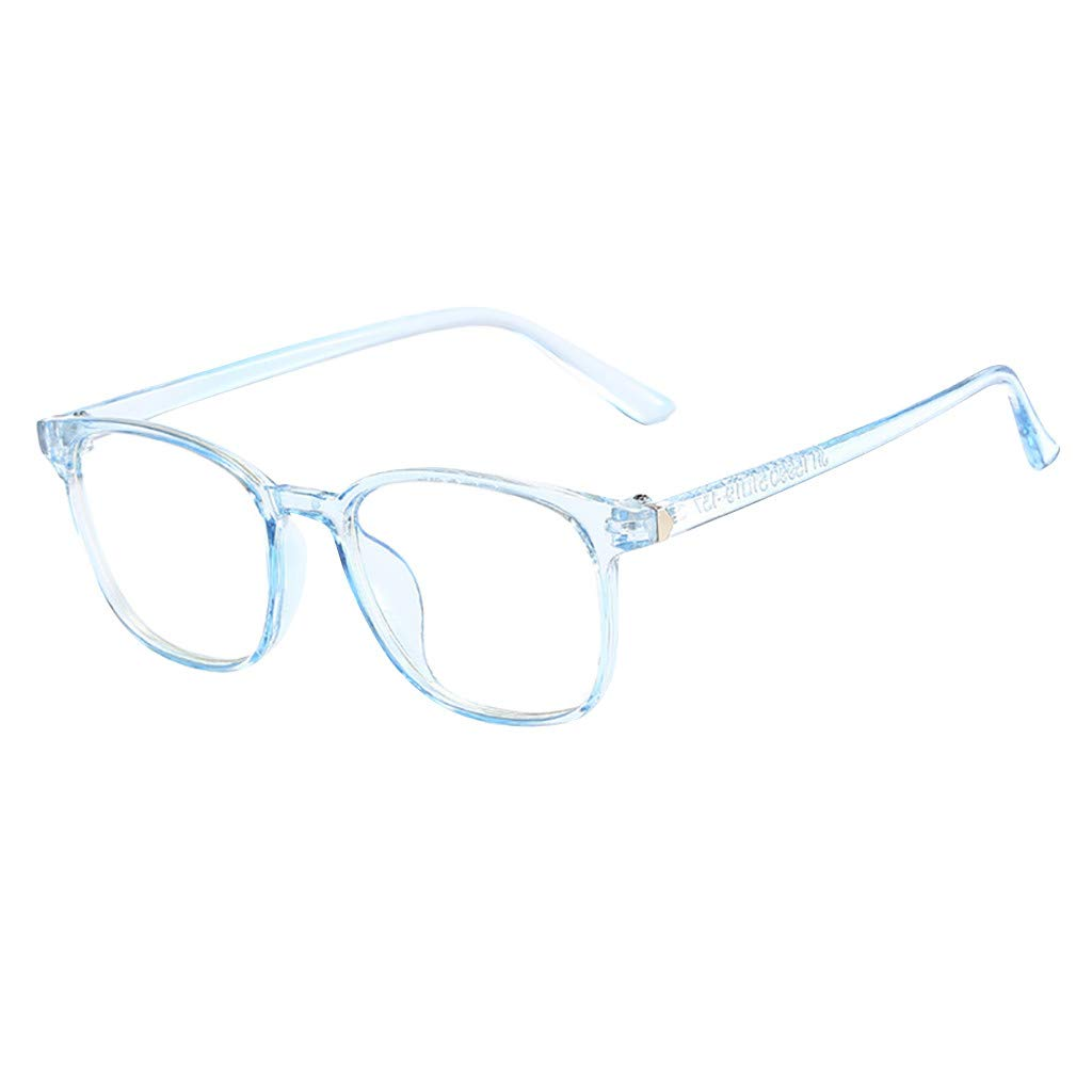 Thepass Vintage Sunglasses,Unisex Square Non-prescription Glasses Clear Lens Eyewear