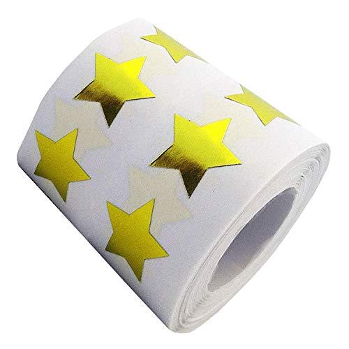 (1000PCS | 3/4 Inch) Metallic Gold Star Stickers - School Mini Reward Star Stickers Kid - Glitter Foil Stars Self Adhesive Labels - Teacher Supplies - Christmas Decor Scrapbooking Decals Party Favors