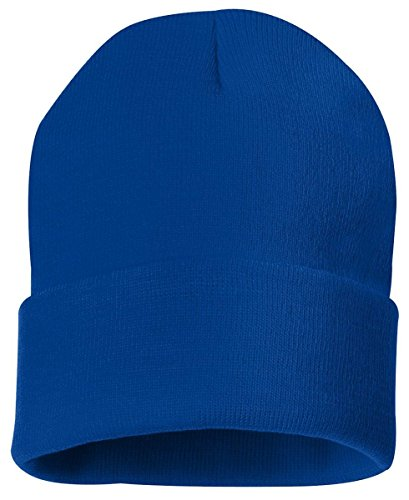 Sportsman Solid Knit Beanie, One Size, Royal Blue (Acrylic Solid Knit Beanies)