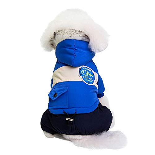 RSHSJCZZY Puppy Winter Apparels Cats Doggy Shirt Costume Pet Dog Clothes Pet Hooded Coat]()
