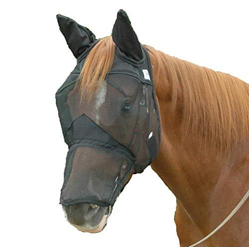 Cashel Quiet Ride Fly Mask with Ears and Long Nose - Size: Horse