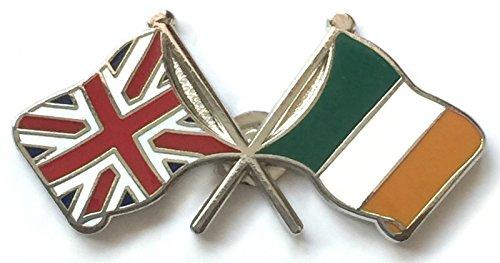 Grande-Bretagne & S Drapeaux Irlande d'amitié avec Pin's (épinglette Badge en émail