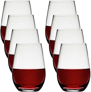 Stolze Stemless Red Wine Glass 8-Pack
