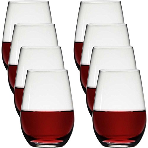 Sangiovese Merlot Wine - Stolzle (8 Pack) Stemless 23oz Lead Free Crystal Red Wine Glasses Set Bulk Dishwasher Safe Barware