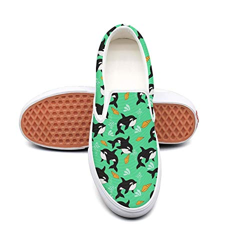 Fangtinge Woman Whale Party Supplies Canvas Shoes Casual Loafers Shoes Sneaker
