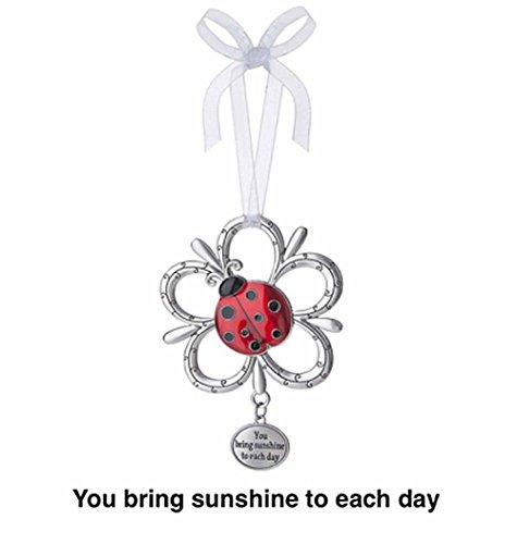 You Bring Sunshine to Each Day Ladybug Ornament - By Ganz