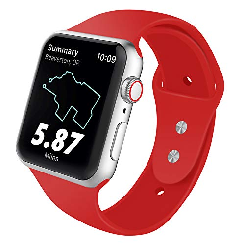 SYRE Sport Band Compatible for Apple Watch 38mm 42mm 40mm 44mm, Soft Silicone Replacement Strap for iWatch Series 4,Series 3,Series 2,Series 1