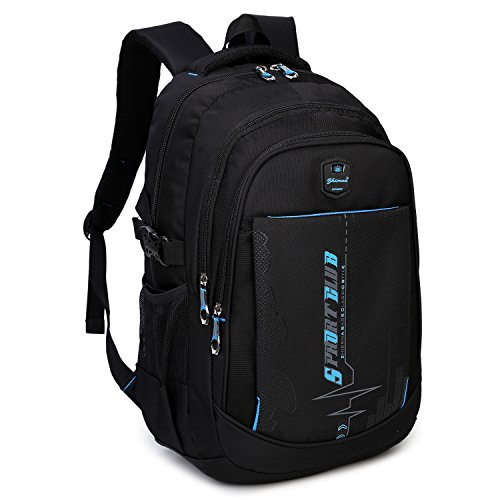 Goldwheat School Backpacks Student Bookbag Casual Shoulder Daypack Travel Back Pack for Teen Boys ()