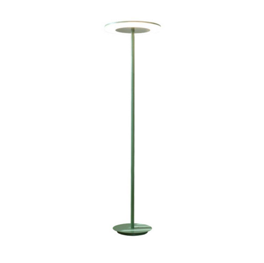 GRJH® ノルディックフロアランプリビングルームの研究簡単な仕事を読むアイアンアート垂直ライトフットスイッチ 淡色にすることができる,エレガントでシンプルな (色 : 緑) B07DCJ6L8H 緑