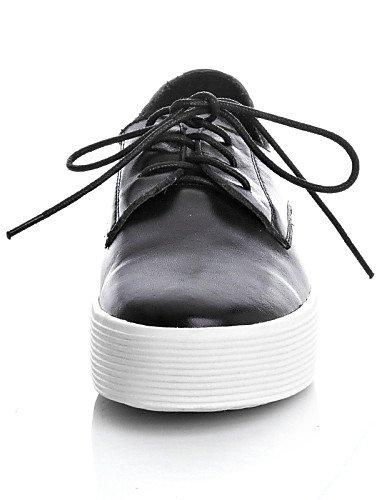 A Noir Décontracté Femme Eu35 Plateau Uk3 Black us5 Cuir Blanc Richelieu Plateforme Chaussures Arrondi Cn34 Bout Njx xTnSqW6YE