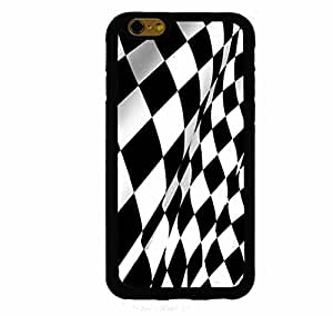Checkered Flag Wavy iphone 4s ( inch screen) Rubber Case