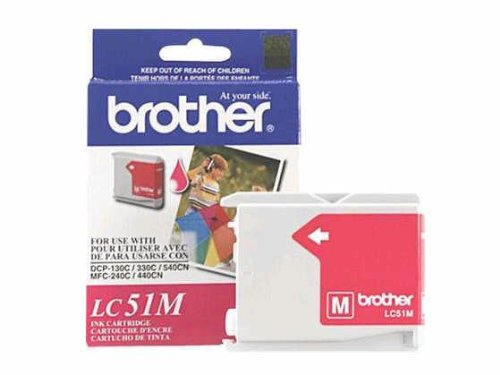 Brother Lc51m - Magenta - Original - Ink Cartridge - For Dcp 350, Fax 2580, Intellifax 1860, 1960, 2580, Mfc 230, 3360, 465, 5860, 685, 845, 885