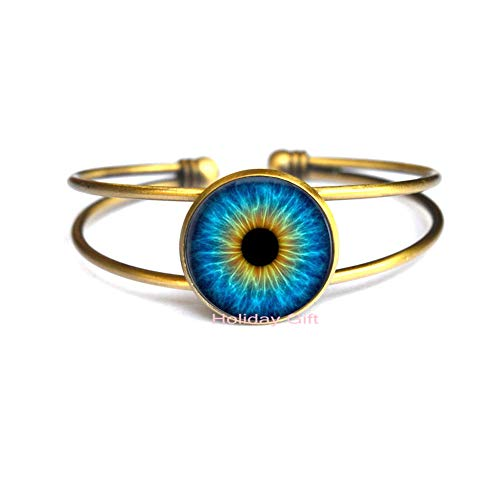 Holiday gift Cat's Eye Crystal Bracelet Bangle per ality Dragon Eye Glass Dome Bracelet Bangle Jewelry Bangle.HTY-012
