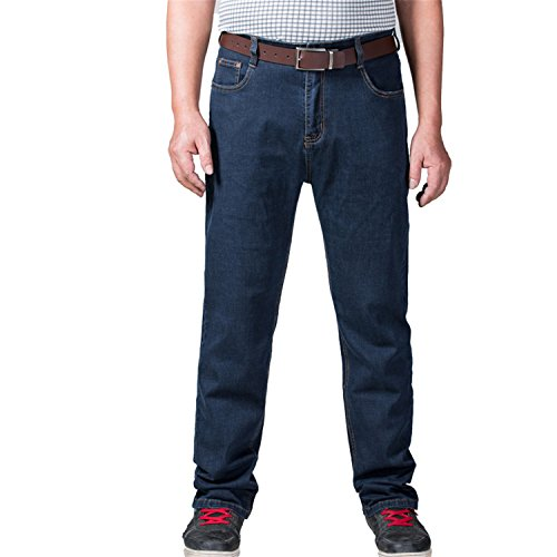 Coac3 Mens Big and Tall High Stretch Jeans Denim Business Relax Pants Dark Blue by Coac3 (Image #3)