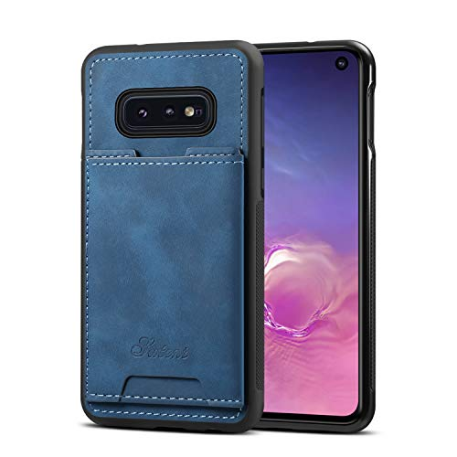 Samsung Galaxy S10e Case Cover,TACOO Slim Pu Leather Card Pocket Firm Kickstand Simplicity Protective Men Girl Shell