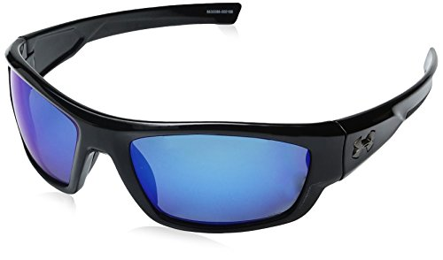 Under Armour Ua Force Polarized Oval Sunglasses, Black/ Blue, 60 - Sunglasses Best Z