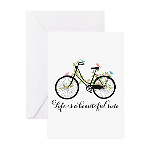 CafePress - Life Is A Beautiful Ride Greeting Cards - Greeting Card (10-pack), Note Card with Blank Inside, Birthday Card Glossy ()