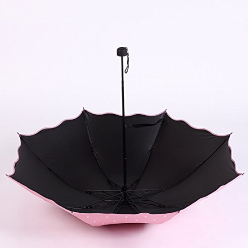 SBBCW Kreativ Südkorea Ausgabe Sonnenschutz Regen Oder Sonnenschein Damen Falten Doppelte Verwendungszweck UV-Schutz Schatten Kleiner Frischer Sonne Sonnenschirm sjdzP
