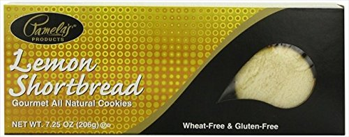 PamelaS Lemon Shortbread Gluten Free 7.25 Oz -Pack of 6