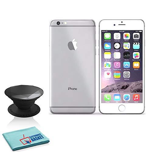 Apple iPhone 6S 16GB Silver (MKQK2LZA) with Black Metallic Diamond Popsocket