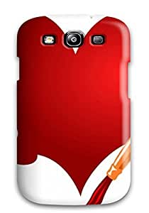 nazi diy Fashionable Style Case Cover Skin For Galaxy S3- Red Color Heart Splash Brush Painting